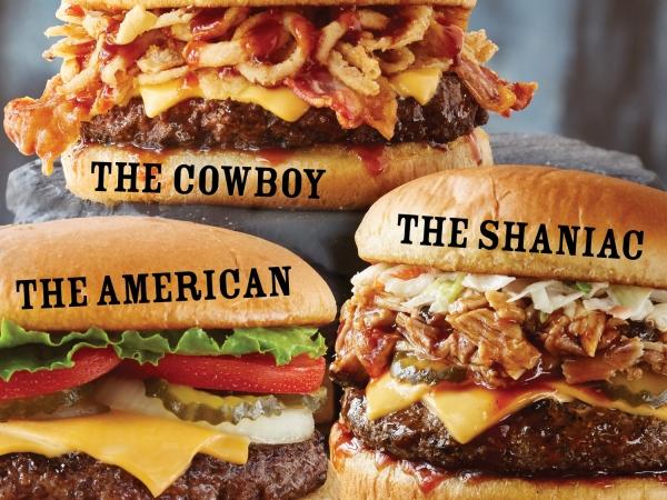 Shane's Rib Shack Burger Trio
