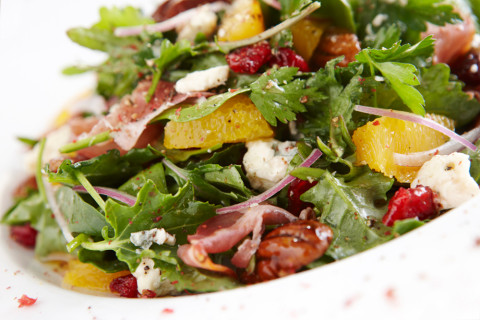 Cranberry and Orange Mixed Green Salad