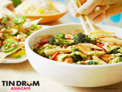 Drunken Noodles Window Cling Tin Drum
